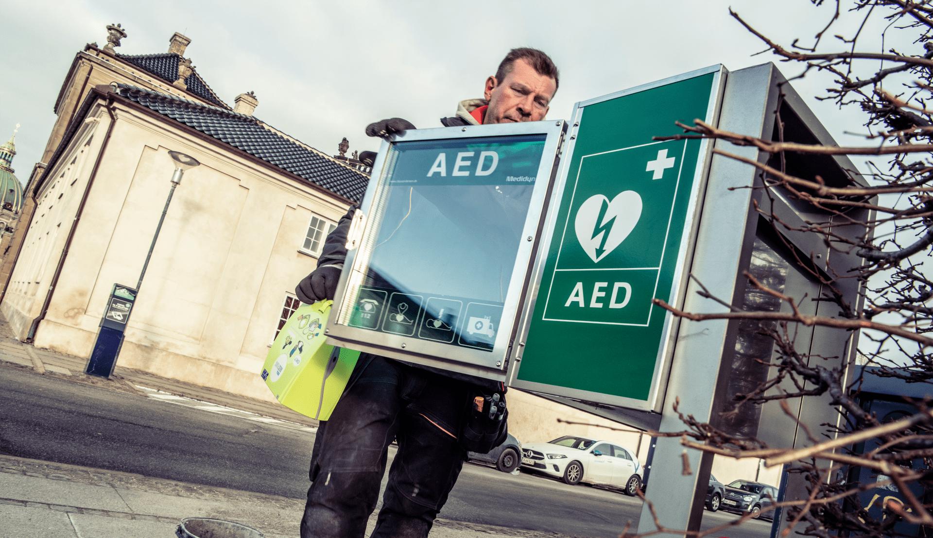Opsaetning af en hjertestarter i Odense